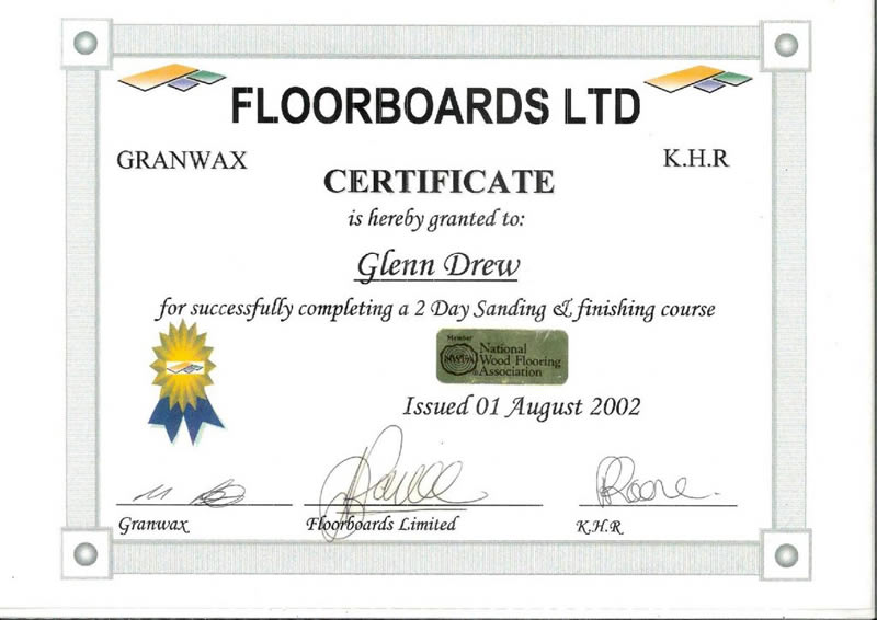 Floorboards Ltd 2 Day Sanding Finishing Course
