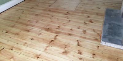 Pine floor in Oxford
