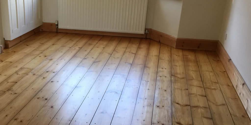 Pine floors sanded stained sealed in Kidlington