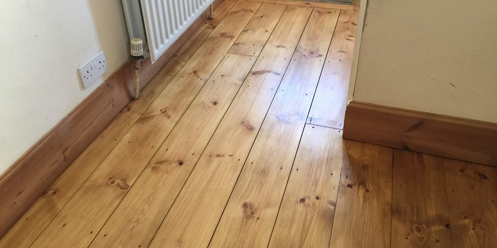 Pine floors sanded stained sealed in Kidlington