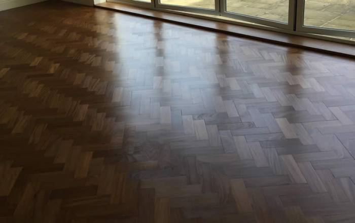 Herringbone Floor Sanded in Cumnor
