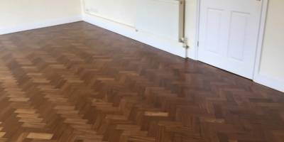 Herringbone Floor Sanded and Sealed in Cumnor