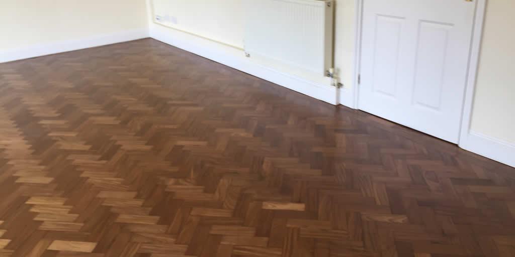 Herringbone Floor Sanded and Sealed in Cumnor