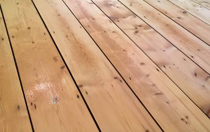 Sanding Pine flooring in Witney