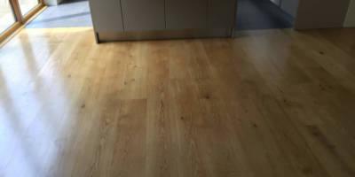 Pine flooring sanded sealed at Duns Tew