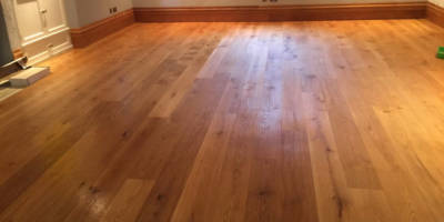 Sanding and oiling of Oak flooring in Little Tew.