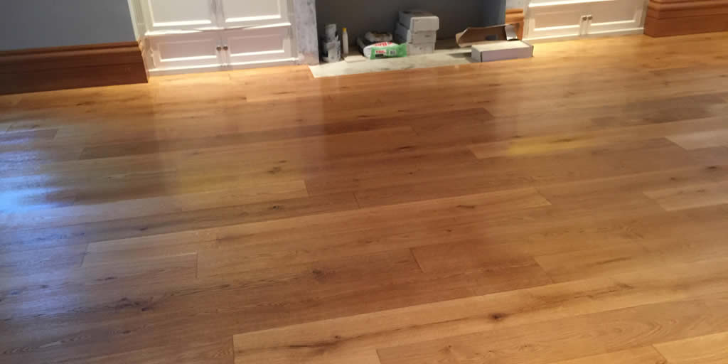 Sanding and oiling of oak flooring in Little Tew