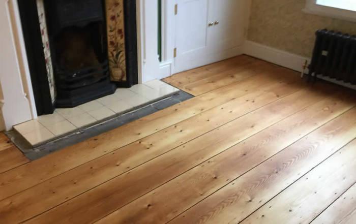 Pine floor boards in Newbury