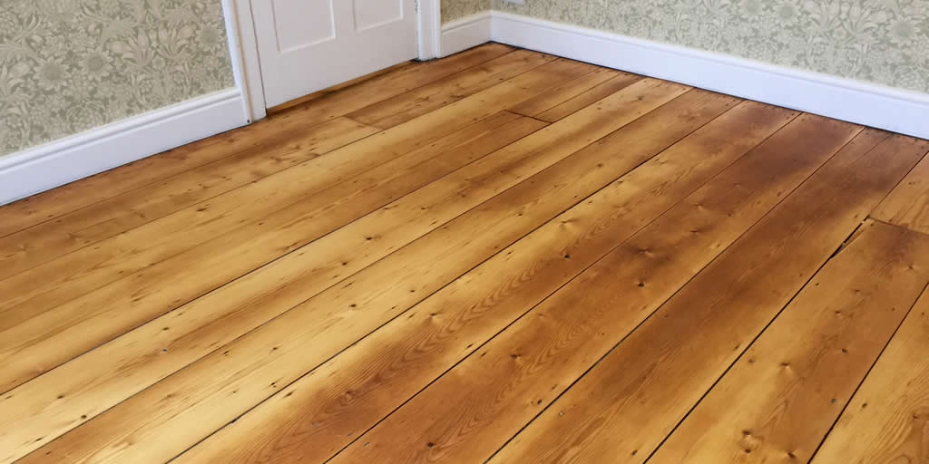 Pine floor boards in Newbury
