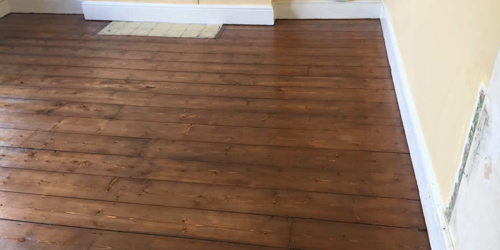 Pine Flooring Sanded and Sealed